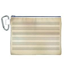 Notenblatt Paper Music Old Yellow Canvas Cosmetic Bag (xl) by Nexatart