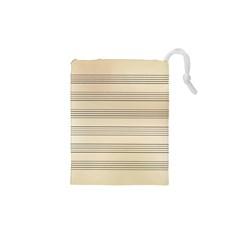 Notenblatt Paper Music Old Yellow Drawstring Pouches (xs)  by Nexatart