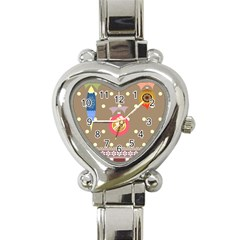Art Background Background Vector Heart Italian Charm Watch by Nexatart