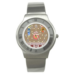 Art Background Background Vector Stainless Steel Watch