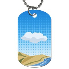 Grid Sky Course Texture Sun Dog Tag (two Sides) by Nexatart