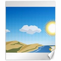 Grid Sky Course Texture Sun Canvas 8  X 10  by Nexatart