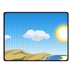 Grid Sky Course Texture Sun Fleece Blanket (Small)