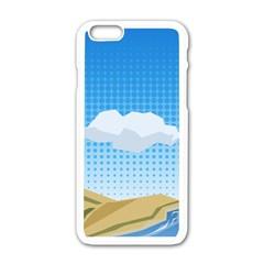 Grid Sky Course Texture Sun Apple Iphone 6/6s White Enamel Case by Nexatart
