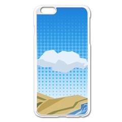 Grid Sky Course Texture Sun Apple Iphone 6 Plus/6s Plus Enamel White Case by Nexatart