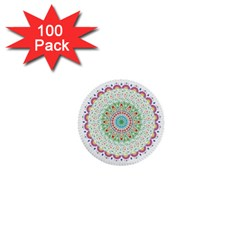 Flower Abstract Floral 1  Mini Buttons (100 Pack)  by Nexatart