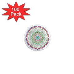 Flower Abstract Floral 1  Mini Magnets (100 Pack)  by Nexatart