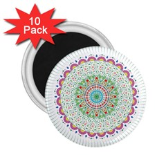 Flower Abstract Floral 2 25  Magnets (10 Pack)  by Nexatart