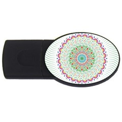 Flower Abstract Floral Usb Flash Drive Oval (4 Gb) by Nexatart
