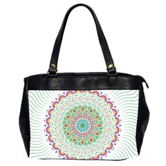 Flower Abstract Floral Office Handbags (2 Sides)  by Nexatart