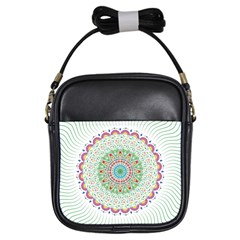 Flower Abstract Floral Girls Sling Bags by Nexatart