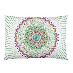 Flower Abstract Floral Pillow Case (two Sides) by Nexatart