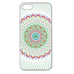Flower Abstract Floral Apple Seamless Iphone 5 Case (clear) by Nexatart