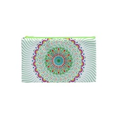 Flower Abstract Floral Cosmetic Bag (xs) by Nexatart