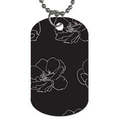 Rose Wild Seamless Pattern Flower Dog Tag (two Sides)