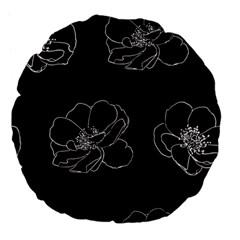 Rose Wild Seamless Pattern Flower Large 18  Premium Flano Round Cushions by Nexatart
