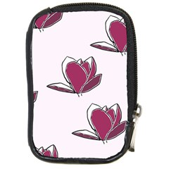Magnolia Seamless Pattern Flower Compact Camera Cases by Nexatart