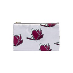 Magnolia Seamless Pattern Flower Cosmetic Bag (small)  by Nexatart