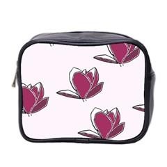 Magnolia Seamless Pattern Flower Mini Toiletries Bag 2 Side by Nexatart