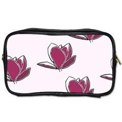 Magnolia Seamless Pattern Flower Toiletries Bags by Nexatart