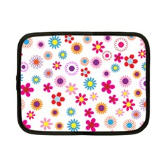 Floral Flowers Background Pattern Netbook Case (small)  by Nexatart