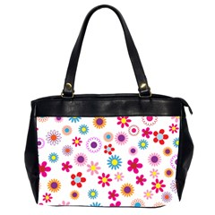 Floral Flowers Background Pattern Office Handbags (2 Sides)  by Nexatart