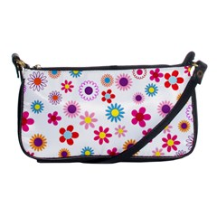 Floral Flowers Background Pattern Shoulder Clutch Bags by Nexatart