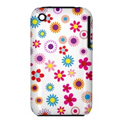 Floral Flowers Background Pattern Iphone 3s/3gs by Nexatart