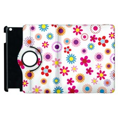 Floral Flowers Background Pattern Apple Ipad 3/4 Flip 360 Case by Nexatart