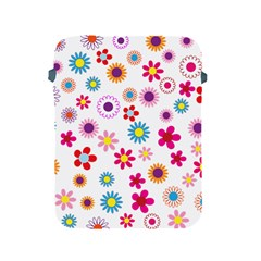Floral Flowers Background Pattern Apple Ipad 2/3/4 Protective Soft Cases by Nexatart