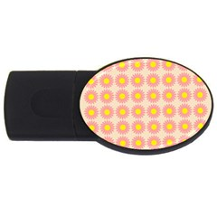Pattern Flower Background Wallpaper Usb Flash Drive Oval (2 Gb) by Nexatart