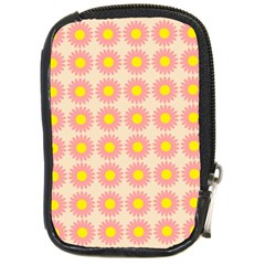 Pattern Flower Background Wallpaper Compact Camera Cases by Nexatart