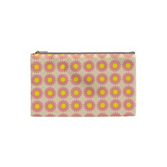 Pattern Flower Background Wallpaper Cosmetic Bag (small)  by Nexatart