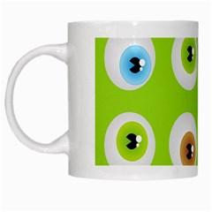 Eyes Background Structure Endless White Mugs by Nexatart