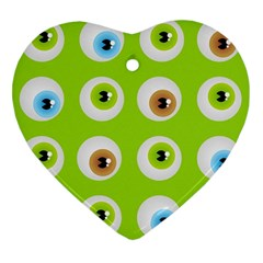 Eyes Background Structure Endless Heart Ornament (two Sides) by Nexatart