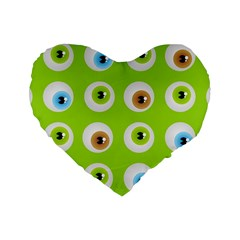Eyes Background Structure Endless Standard 16  Premium Flano Heart Shape Cushions by Nexatart