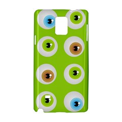 Eyes Background Structure Endless Samsung Galaxy Note 4 Hardshell Case by Nexatart