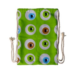 Eyes Background Structure Endless Drawstring Bag (small) by Nexatart