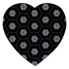 Mandala Calming Coloring Page Jigsaw Puzzle (heart)