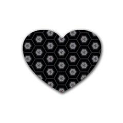 Mandala Calming Coloring Page Heart Coaster (4 Pack)  by Nexatart