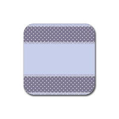 Blue Modern Rubber Square Coaster (4 Pack)  by Nexatart