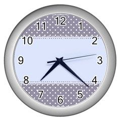 Blue Modern Wall Clocks (silver)  by Nexatart