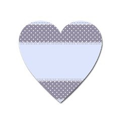 Blue Modern Heart Magnet by Nexatart