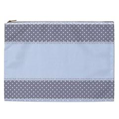 Blue Modern Cosmetic Bag (xxl)  by Nexatart
