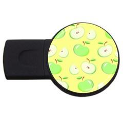 Apples Apple Pattern Vector Green Usb Flash Drive Round (2 Gb) by Nexatart