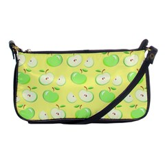 Apples Apple Pattern Vector Green Shoulder Clutch Bags by Nexatart