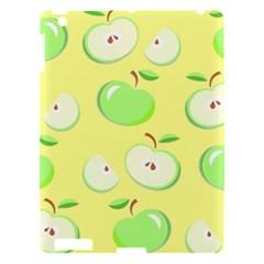 Apples Apple Pattern Vector Green Apple Ipad 3/4 Hardshell Case by Nexatart