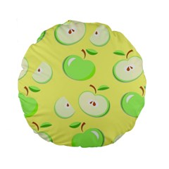 Apples Apple Pattern Vector Green Standard 15  Premium Round Cushions