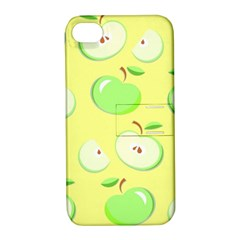 Apples Apple Pattern Vector Green Apple Iphone 4/4s Hardshell Case With Stand by Nexatart