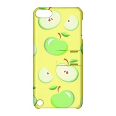 Apples Apple Pattern Vector Green Apple Ipod Touch 5 Hardshell Case With Stand by Nexatart